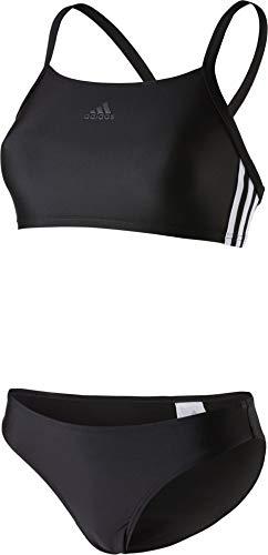 adidas Damen FIT 2PC 3S Badeanzug , black , 38