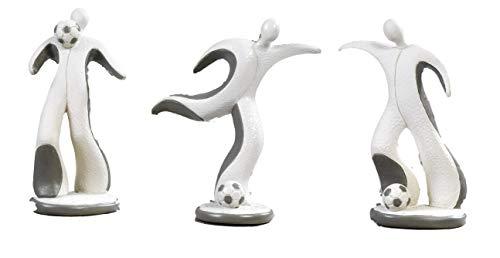 3 pz calciatori stilizzati confezionati singolarmente con gift box bomboniera comunione cresima in resina cm.10,5 by mandorle bomboniere