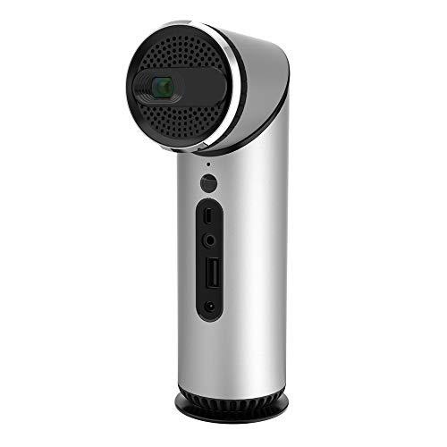 KUNCC DLP-Projektor, 100 Lumen WiFi LED-Spiel-Projektor, Mini Portable Home Office