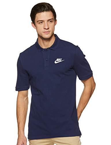 Nike Men's Solid Regular fit T-Shirt (909747-429_Binary Blue/White_XXL)