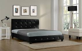 3ft, 4ft, 5ft Quartz PU Leather Bed Double Single King Size Black Or White Kelsey Stores