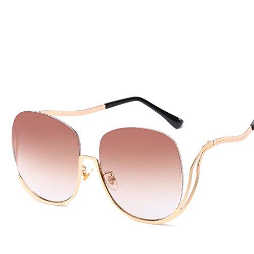 GUO Sonnenbrillen Mode Trend Metall ohne Frame Sonnenbrillen, B