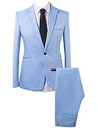Uomo Colore Puro d Affari Standard 2 Pezzi Vestito di Affari d70a27c1526