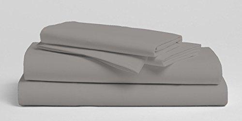 Zuverlässiger Bettwäsche 3tlg. massiv Bettbezug set-600TC Ägyptische Baumwolle, langlebig, pflegeleicht & farbbeständig Top Qualität Premium Bettwäsche Kollektion. King/Cal-King silbergrau - 600 Tc Bettwäsche Aus Ägyptischer Baumwolle