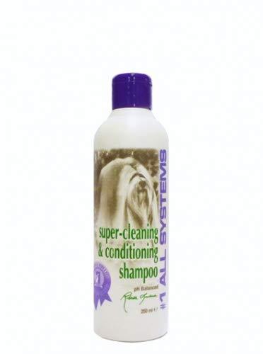 #1 All Systems Super Reinigungs- und Conditioner Hundeshampoo - 250 ml Flasche