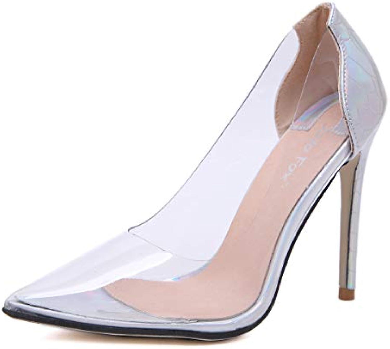 FengJingYuan Sandali Sandali Sandali da Donna - Sexy Scarpe Basse a Tacco Alto, Scarpe da Donna con Tacco Alto,argento,38 | Prodotti di alta qualità  788a02