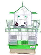 Ocean Wave Cage for Birds Budgerigar and Finches (Pink)
