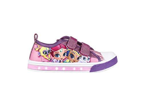 Cerdá Shimmer und Shine | Mädchen Schuhe Turnschuhe Sneaker | Schuhe mit Lichtern! | Unglaubliche Mädchenschuhe | Schönes Magisches Design | Mit Shimmer & Shine! | EU 25 | - Barbie Flip Flops