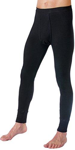 HERMKO 3540 2er Pack Herren Lange Unterhose Long Johns (Weitere Farben), Farbe:schwarz, Größe:D 10 = EU 4XL -