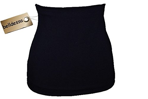 3 in 1: Jersey - Nierenwärmer / Shirt Verlängerer / modisches Accessoire - Farbe: blau dunkelblau Frau XXXL