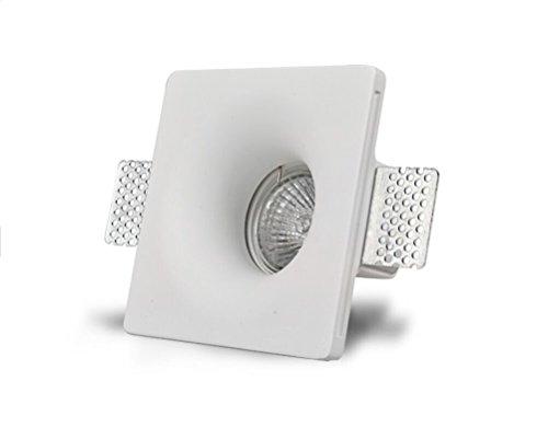KingLed - Cerámica Signs Gesso para iluminación empotrada cónica para focos LED...