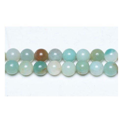 Filo 38+ multicolore amazzonite 10mm tondo perline gs4795-4 (charming beads)