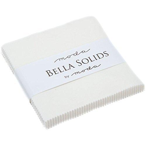 Moda Bella Feststoffe Off Weiß Charm Pack; 106,7-12,7cm Squares -