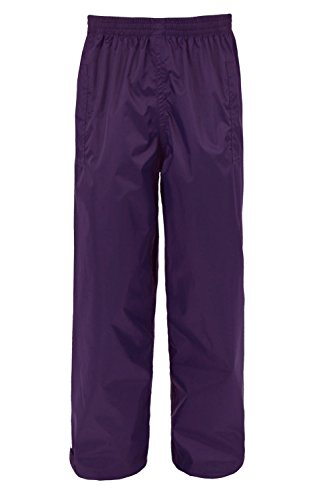Mountain Warehouse Pakka Kids Waterproof Overtrousers - Taped Seams Trousers, Ankle Adjuster Pants, Breathable Childrens Pants - For Wet Weather & School