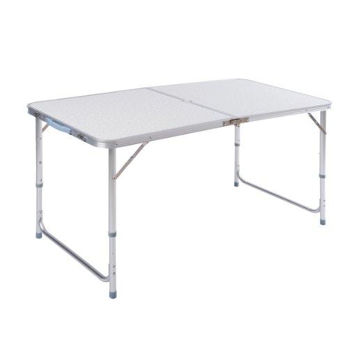 Znl® tavolo camper campeggio picnic alluminio pieghevole per spiaggia giardino cucina 120 x 60 x 70cm aft-02