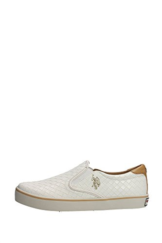 U.S. Polo Assn. GALAN4154S5/Y1 Slip-on Uomo, (Creamy-white), 45