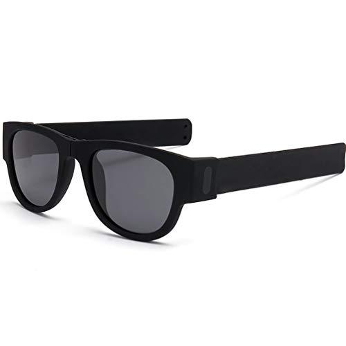 ZUZEN Polarisierte Sonnenbrille Armband Falten Farbe Sport Mode Sonnenbrillen UV-Schutz UV400 Kreis in Armband tragbare Kleidung,C