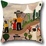20 X 20 Inch / 50 By 50 Cm Oil Painting Clementine Hunter - Funeral Procession Throw Pillow Covers ,twice Sides Ornament And Gift To Her,gf,wedding,christmas,valentine,dining Room - Clementine Hunter