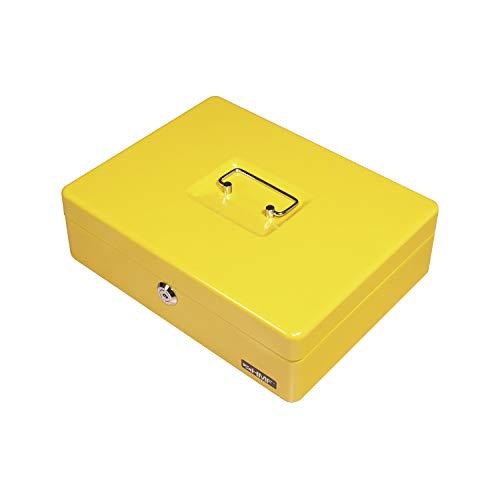 19621e627b HMF 10015-17 Cassetta Portavalori con Vassoio Porta Monete e Banconote 30 x  24 x 9 cm, giallo