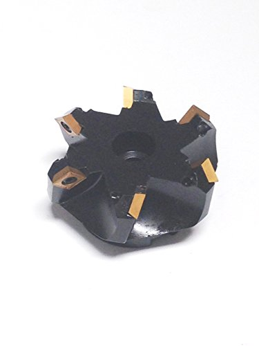 "hhip 45Grad SCMT indexable Face Mühle (verschiedene Größen: 5,1cm–12,7cm), 3-1/2"" Cutting Dia, 1"" Hole, 1.97"" Length, 1"