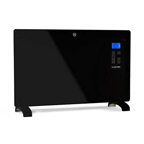 Klarstein Norderney • Riscaldamento a Convezione • Riscaldatore Elettrico • Termostato Intelligente • Da 15 a 35 ° C • Timer • 1.000/2.000 Watt • 30m² • Controllo Touch • Display LCD • Nero