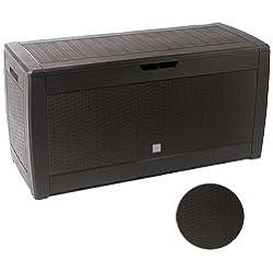Prosper Plast mbr310–440U 119x 48x 60cm Boxe Rato Garten Container–Dunkelbraun (6-teilig)