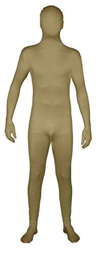 Unbekannt Hautfarbener Ganzkörperanzug mit Reißverschluss im Schritt! Ganzkörperkostüm/Gruppenkostüm für Karneval in Hautfarbe Größe S