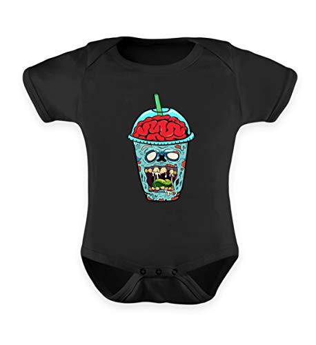 Smoothie, das etwas andere getränk. Ideales Kostüm für Halloween zeig den Untoten - Baby Body -12-18 Monate-Schwarz ()