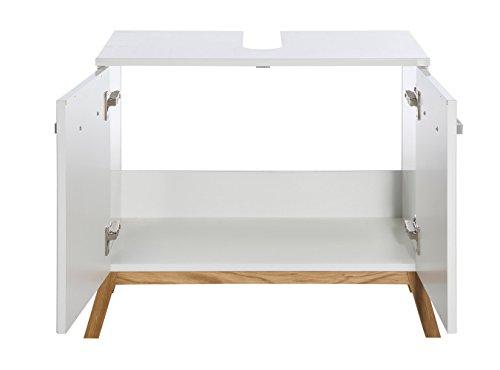 Waschbeckenunterschrank Malmö, Schildmeyer, weiß (65 cm breit) - 3