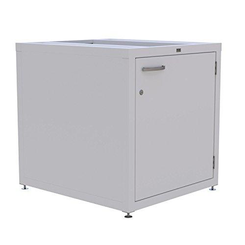Unterschrank für Waschmaschine / Trockner - Podest aus Edelstahl mit Aluminium Rahmen - Schrank abschließbar - wahlweise farbig Pulverbeschichtet - höhenverstellbare Füße - stabile Konstruktion Weiß