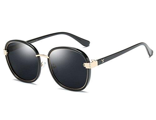 Bmeigo Polarized Sunglasses for Adult Kids Stylish Large Round Frame Sun Glasses UV400 Vintage Eyewear with Case