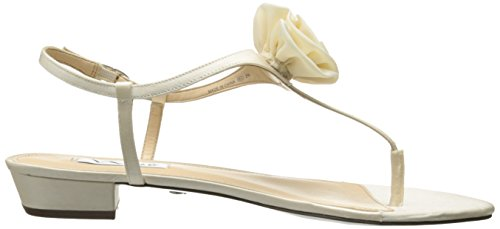 Nina Kady Satin Sandales Ivory Crystal