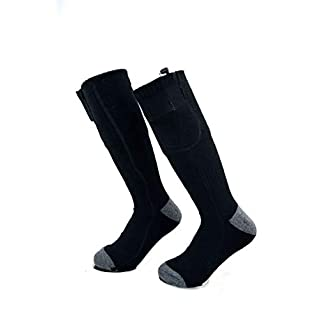 Electric Heated Socks Thermal Insulated Sock Battery Powered Heating Sox,Winter Rechargeable Heat Socks Kit for Chronically Cold Feet,Climbing Hiking Foot Warmer(Battery not Included)