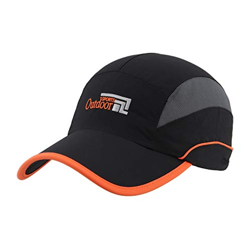 Gisdanchz Casquette Homme Casquette Homme Été Vetement Sport Femme Trail Casquette Golf Baseball Tenue Running Femme Camionneur UPF Sun Ladies Racing Sport Cap Waterproof Runners Cap Noir
