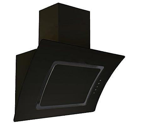 Respekta kopffreie Oblique Hotte Hotte Hotte Hotte murale verre 90cm Noir eekl A/Touch Control/abluft et chaleur tournante/LED