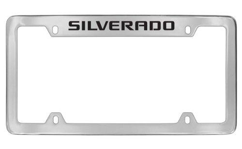 chevrolet-silverado-chrome-plated-metal-top-engraved-license-plate-frame-holder-by-chevrolet