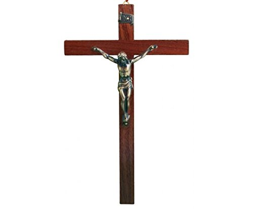 Großes Christus-Kreuz / Kruzifix, aus Holz, 23 cm