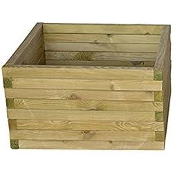 Garbric - Jardinera cuadrada 50x50x40 madera tratada