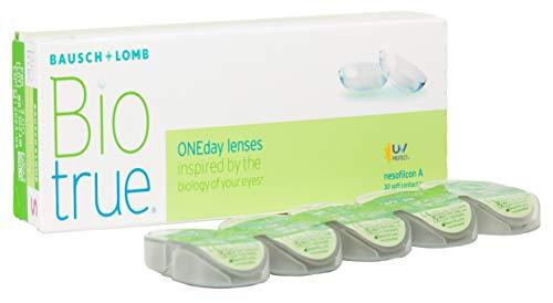 Biotrue ONEday Tageslinsen weich, 30 Stück BC 8.6 mm / DIA 14.2 / -2 Dioptrien