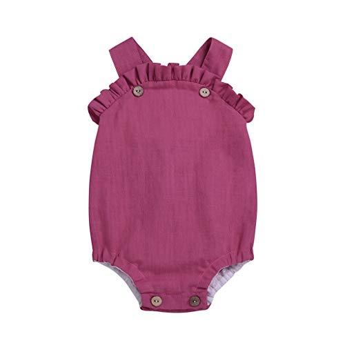 Pink Supergirl Outfit - Realde--Baby Mädchen Ärmellos-Body im Schulterfrei Jumpsuit