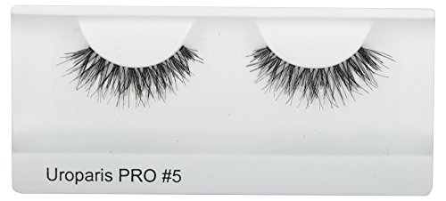 UROPARIS False Eyelashes for Women, 5, Black