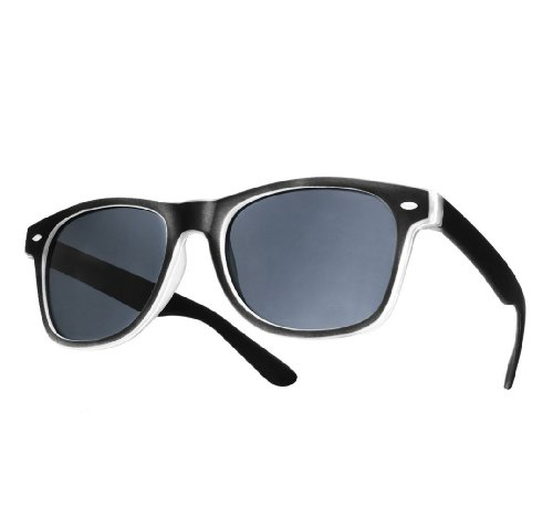 NEW UNISEX (MENS WOMENS) Retro Vintage Sonnenbrille Brille SUNGLASSES Shades UV400 Protection Morefaz(TM) (Rubbi black)