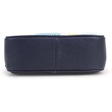SUNNY KEY-Borsa a tracolla @ Donna Borsa a tracolla Vacchetta Per tutte le stagioni Casual Baguette A calamita Blu , blue blue