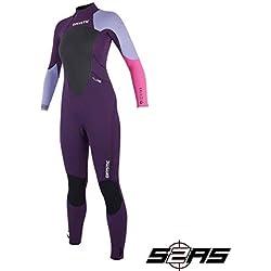 Mystic Watersports - Surf Kitesurf & Windsurfing Combinaison Etoile 3 / 2MM GBS Back Zip Pourpre - Pourpre