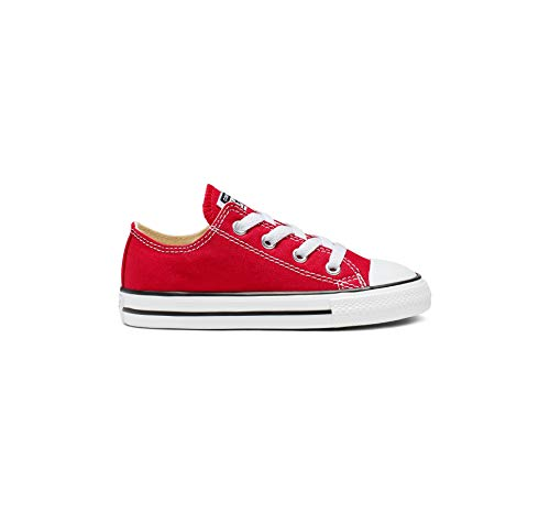 CONVERSE Chuck Taylor All Star Core Ox 015810-21 Unisex - Kinder Sneaker, Rot (Red), 24 EU Casual Canvas Oxford