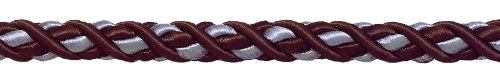 8,2 m Lot de grande Marron, Bleu clair Baroque Collection 7/40,6 cm Cordon décoratifs sans Lip Style # 716bnl Couleur : Mocha Ice – 24B (8,2 m/8 metres)