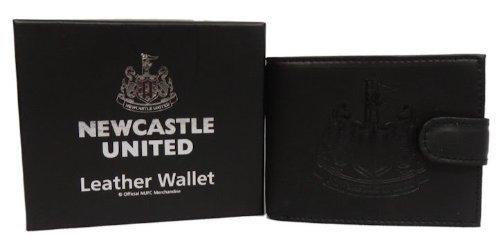 Newcastle United F.C. Portefeuille en cuir avec emblème estampé contre boucle