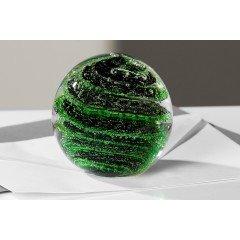 Briefbeschwerer Tropic grün/schw. D.7. 5cm