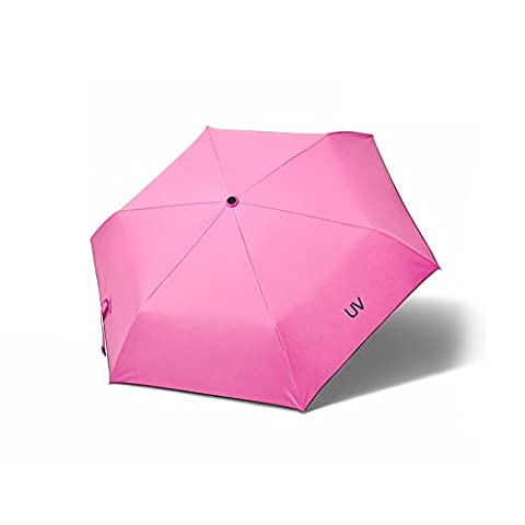 WILLIAM&KATE Women's Super Light Sunscreen Three Fold UV Automatic Sunny or rainy Umbrella