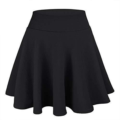 WinCret Falda Mujer Mini Elástica Plisada Básica